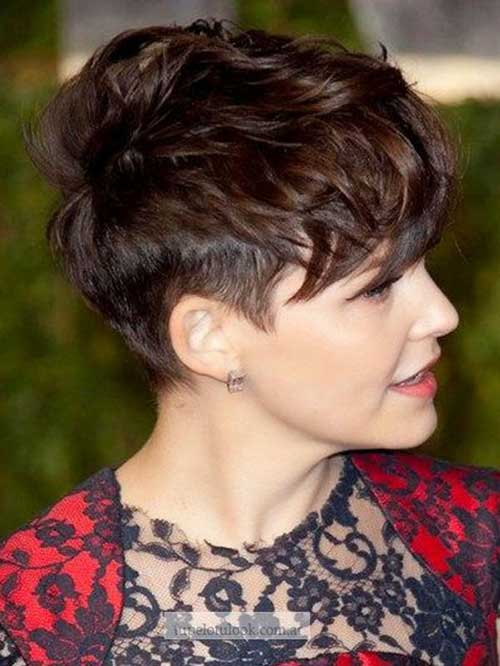 Tousled Brown Pixie Haircut