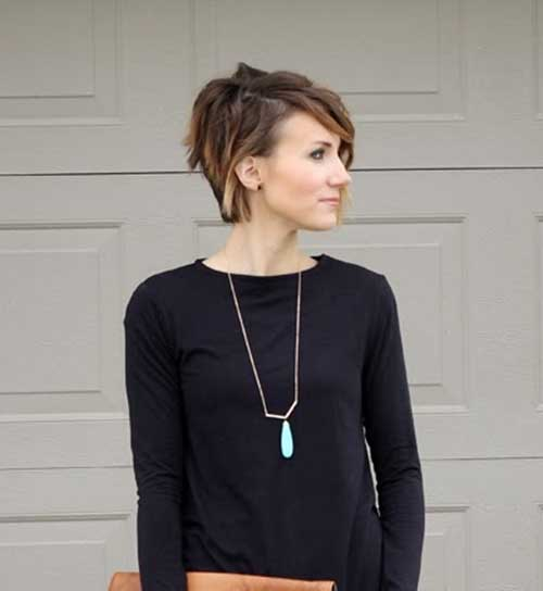 Trendy Asymmetrical Pixie Haircuts