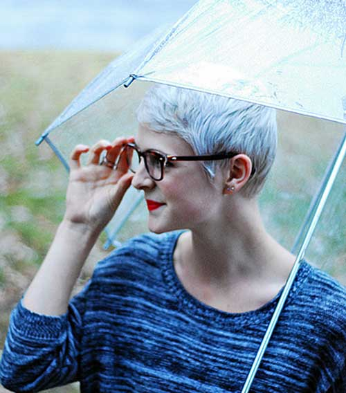 Trendy Pixie Cut for Gray Hair