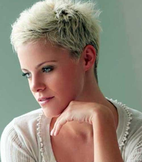 Very Short Platinum Blonde Pixie Cuts