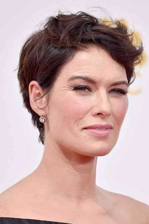 Wavy Pixie Haircut Ideas for Older Ladies