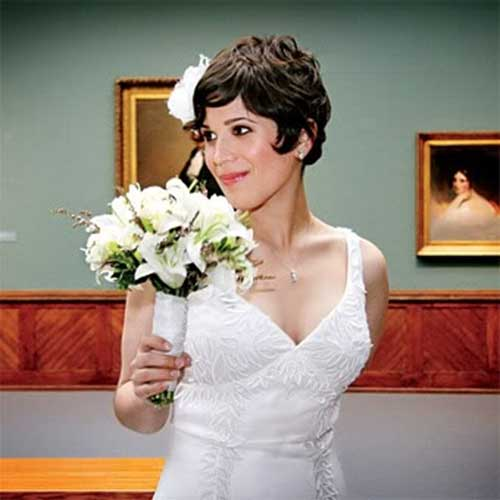 Wavy Pixie Hairstyles for Wedding Hair