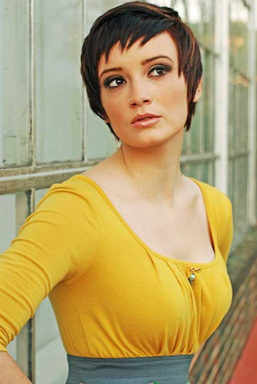Women with Thick Dark Pixie Hair Ideas