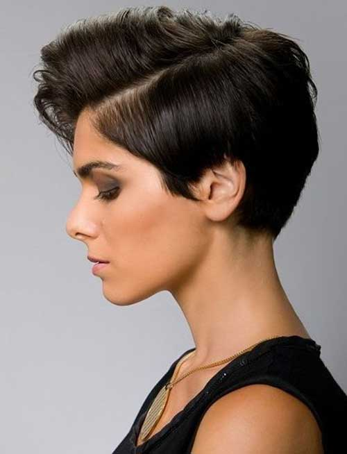 Asymmetrical Pixie Crop Hairstyles