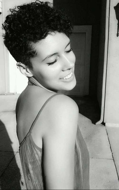 Black Women Curly Pixie Haircut