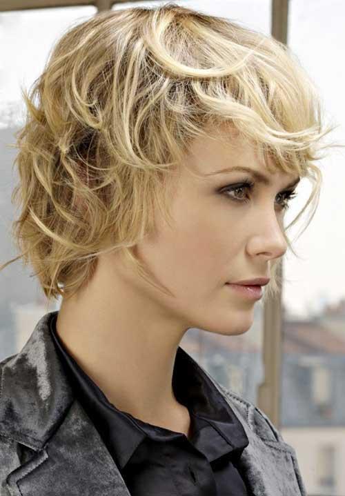 Blonde Shaggy Pixie Haircut
