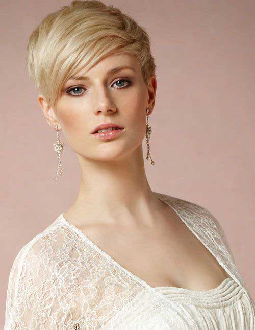 Blonde Straight Pixie Haircuts