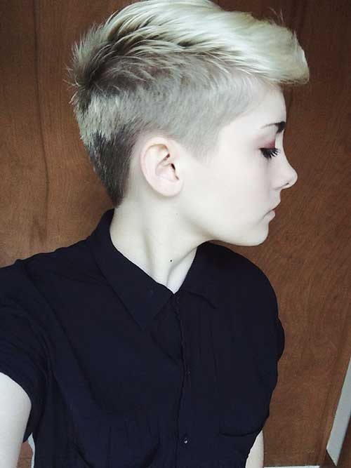 Blonde Boyish Pixie Cut Styles