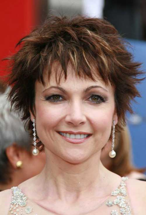Brown Pixie Hair for Women Over 50