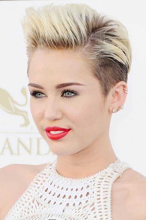 Celebrities Long Pixie Cut