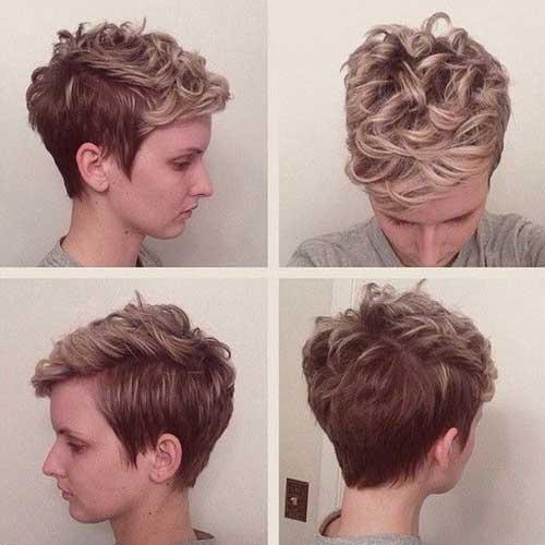 Curly Pixie Hair