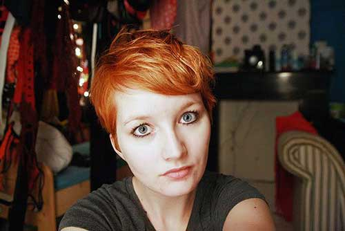 Cute Red Pixie Cut Style