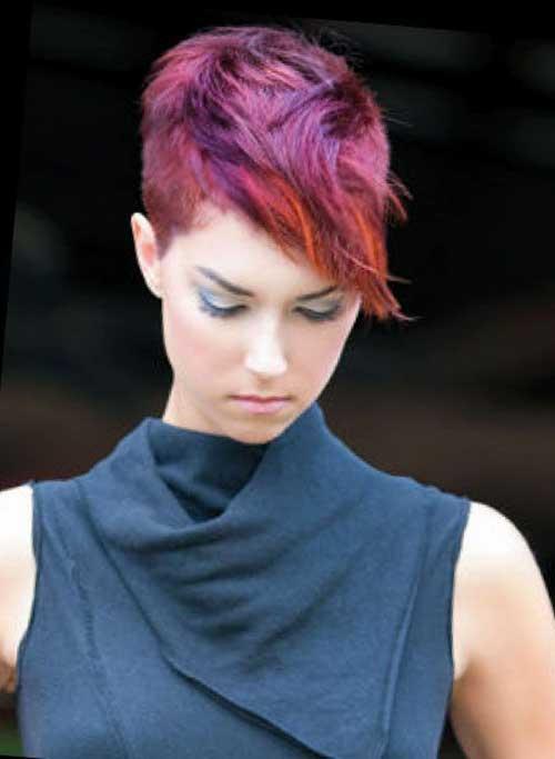 Dark Pink Pixie Cut