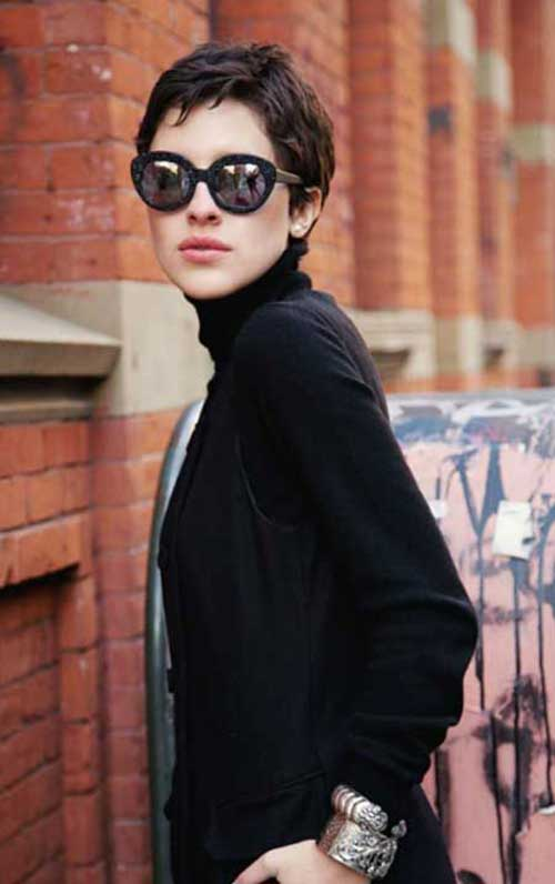 Dark Pixie Hair Cuts 2015