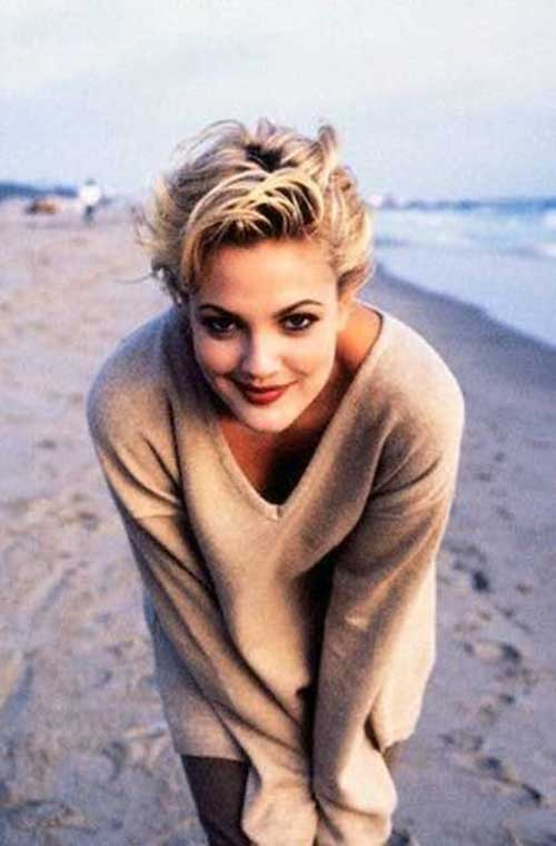 Drew Barrymore Pixie Hairstyles
