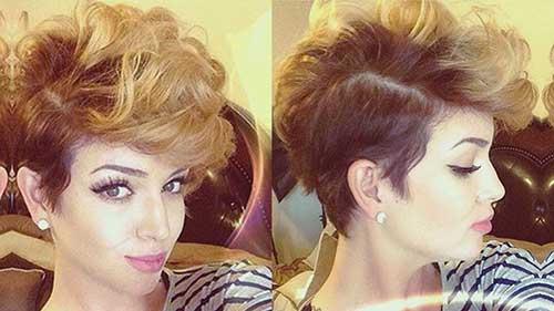 Edgy Pixie Curly Haircut