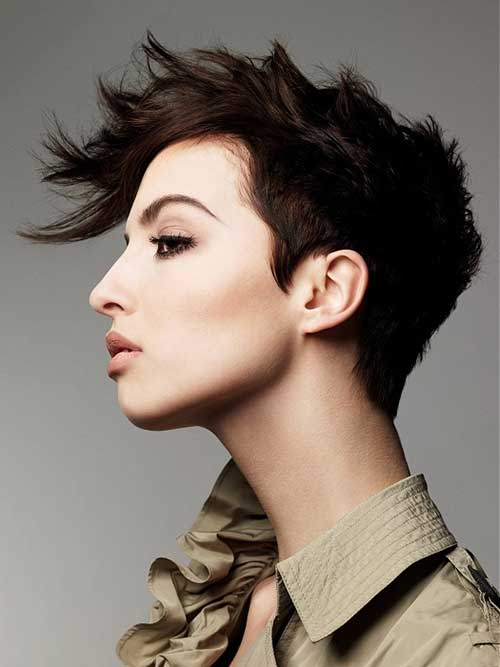 Faux Hawk Pixie Dark Color Ideas