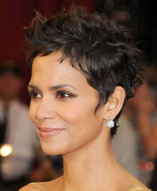 Halle Berry Messy Pixie Hair Cut
