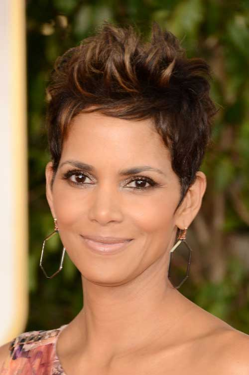 Halle Berry Pixie Cut Thick Hairstyles