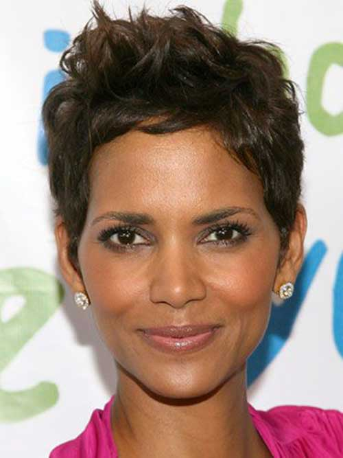 Halle Berry Pixie Messy Hair Cut