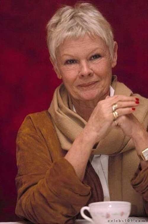 Judi Dench Cute Pixie for Women Over 50