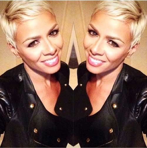 Light Blonde Pixie Cut Color Ideas