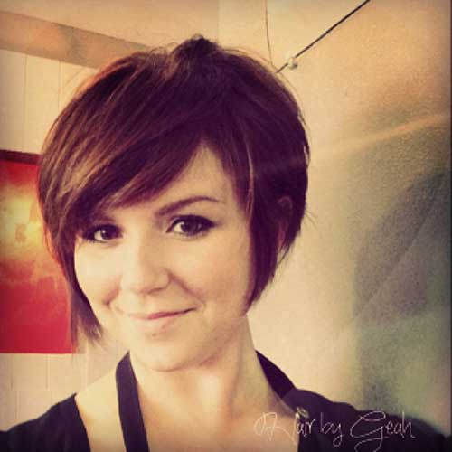 Long Brunette Pixie Hairstyles