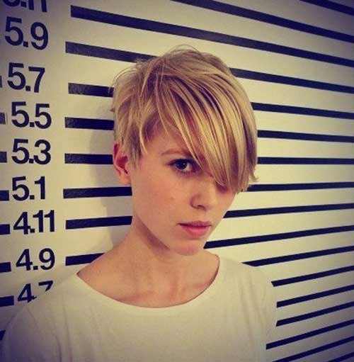 Long Pixie Blonde Hairstyles