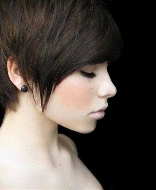 Long Dark Pixie Hairstyles