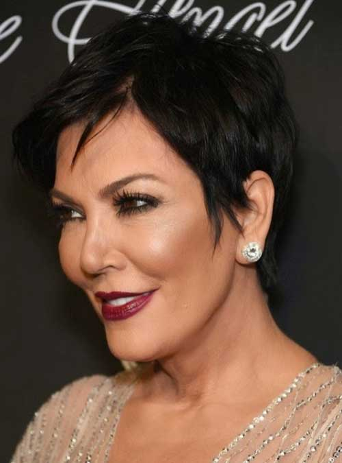 Modern Dark Pixie Hair for Women Over 50
