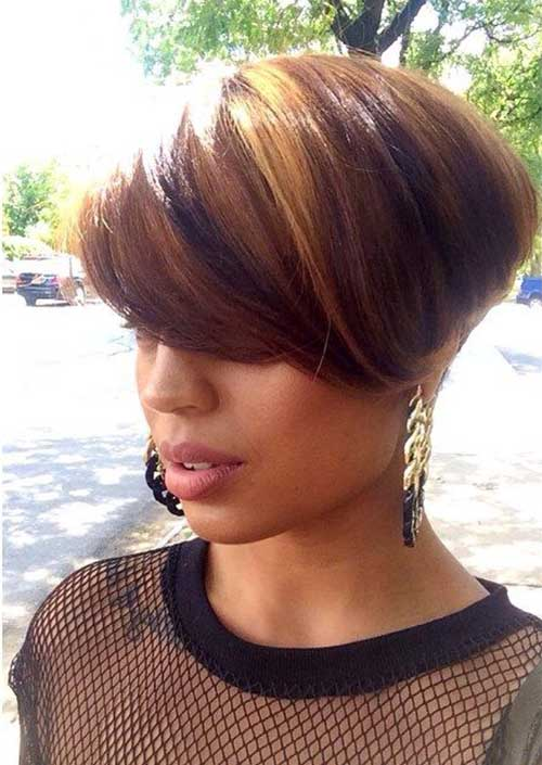 Pixie Cut Brown Thick Hairstyles