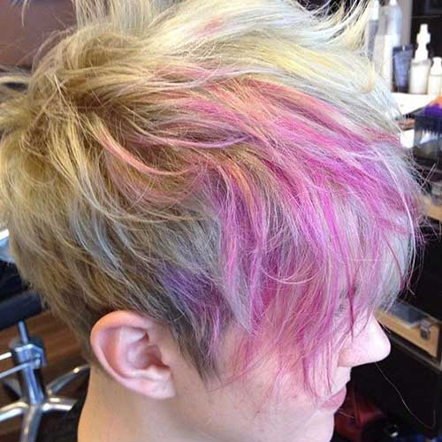 Pixie Cut Colorful Hair Ideas