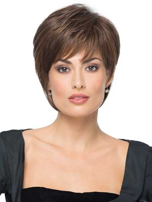 Pixie Cut Straight Brown Hairstyles