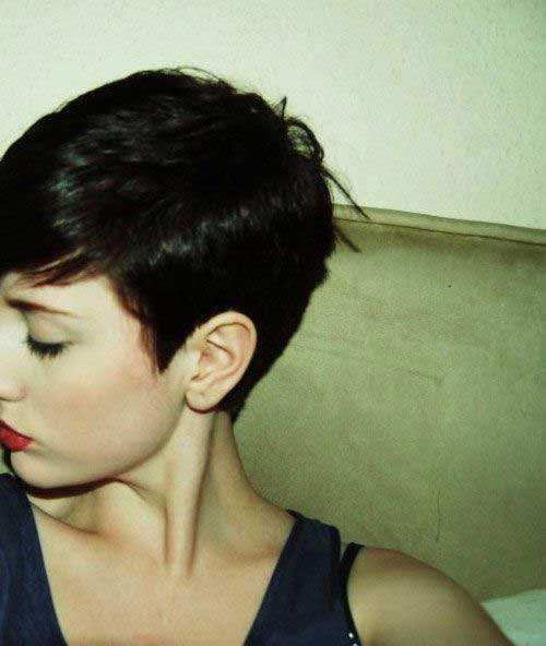 Dark Pixie Haircut Pictures