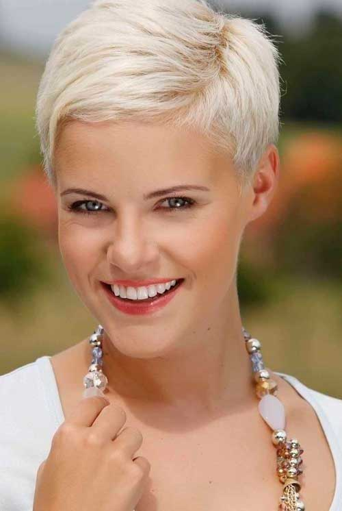 Platinum Blonde Pixie Hair Cuts