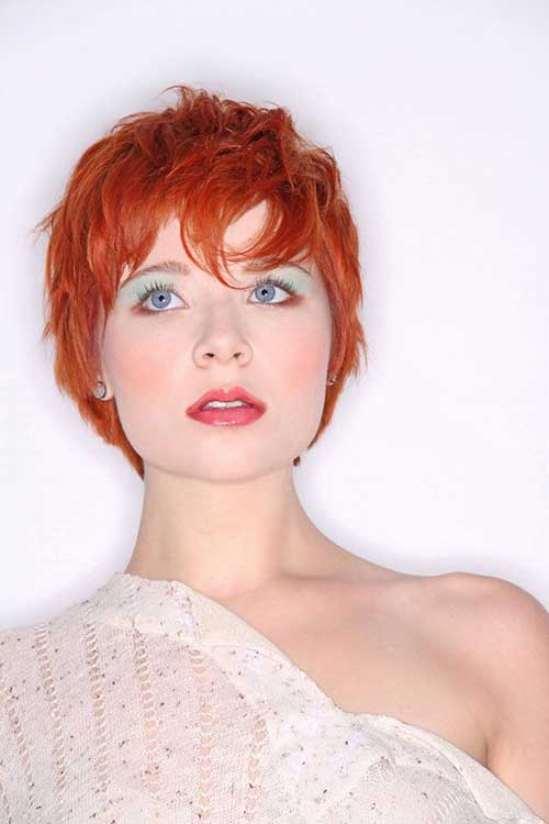 Red Hair Pixie Cut Style Pictures