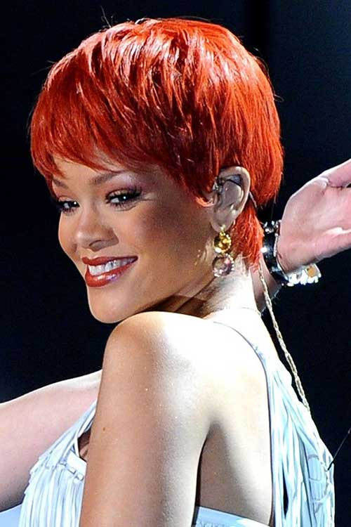 Rihanna Pixie Crop Hairstyles