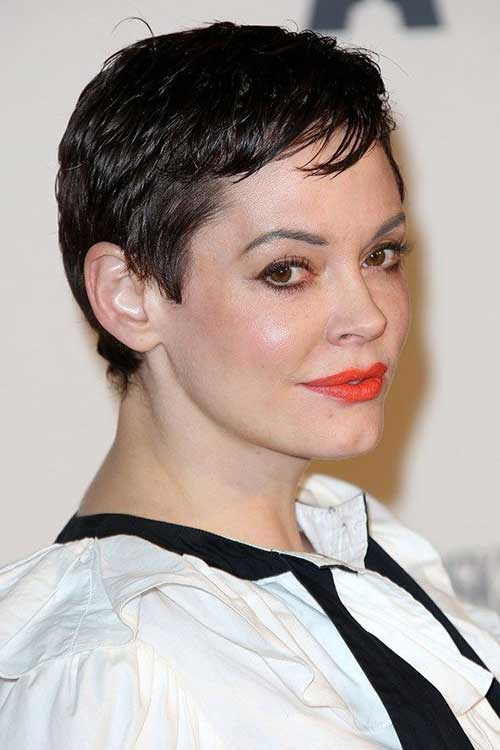 Rose McGowan Pixie Crop Hair