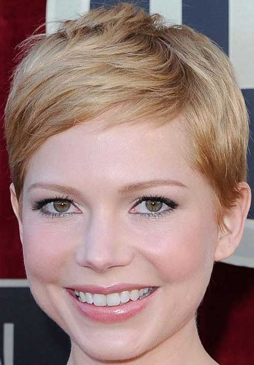 Cute Round Face Pixie Cut
