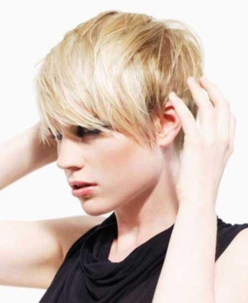 Shaggy Blonde Pixie Cuts