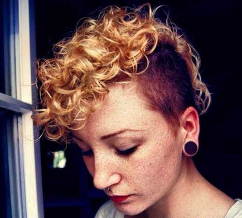 Shaved Curly Pixie Haircuts