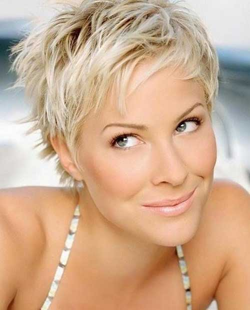 Short Pixie Blonde Haircuts