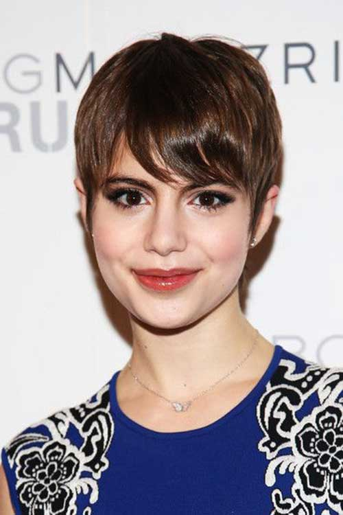 Thin Pixie Cut Brown Color Ideas