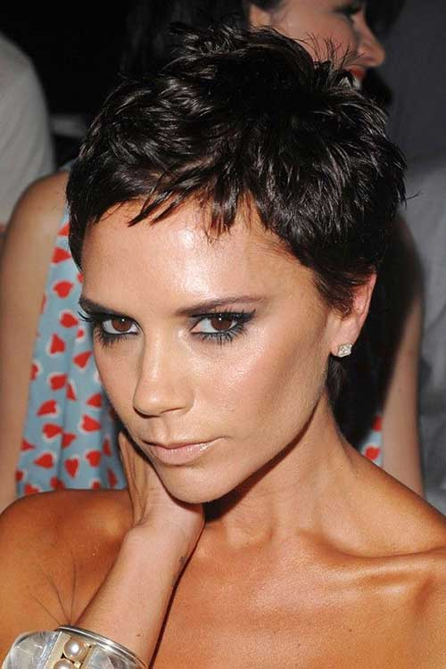 Victoria Beckham Short Layered Pixie Cut
