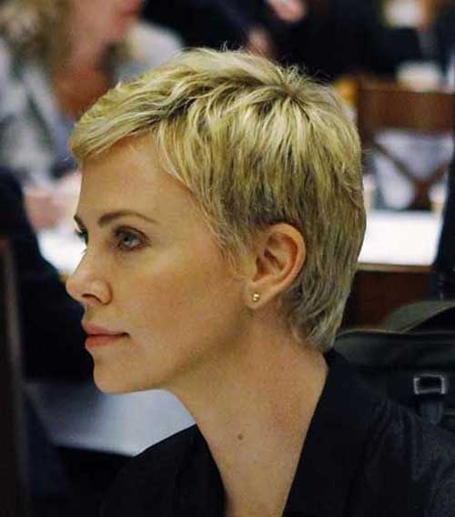 2015 Blonde Pixie Haircut