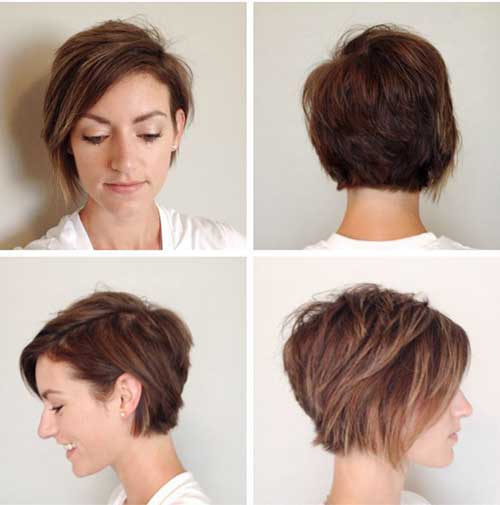 Asymmetrical Pixie Bob Haircut