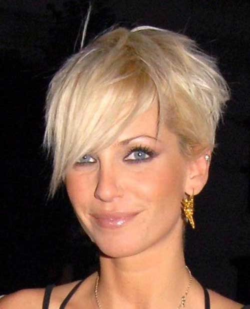 Asymmetrical Blonde Pixie Haircut