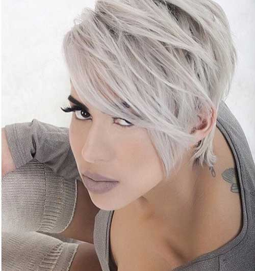 Blonde Long Modern Pixie Cuts