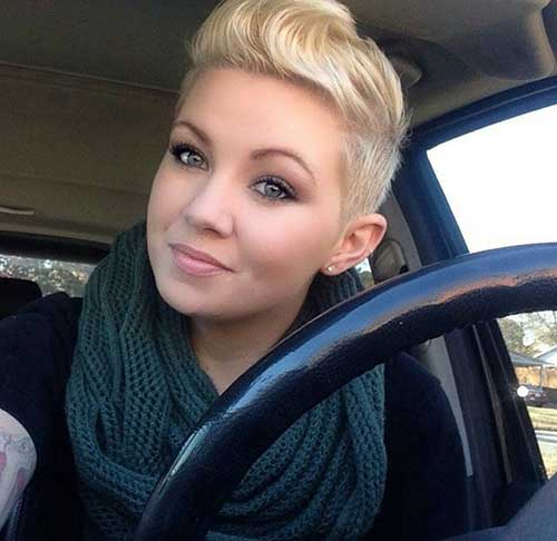 Blonde Pin Up Pixie Hairstyles