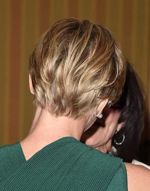 Blonde Pixie Hairstyles Back View